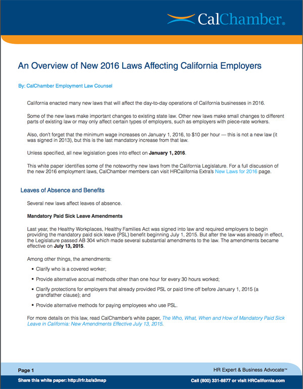 CalChamber-Laws